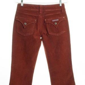 HUDSON Red Orange Corduroy Flap Pocket Boot Cut Je